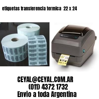 etiquetas transferencia termica  22 x 24