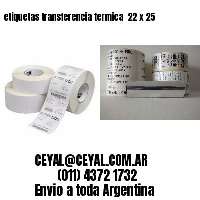 etiquetas transferencia termica  22 x 25