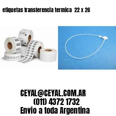 etiquetas transferencia termica  22 x 26