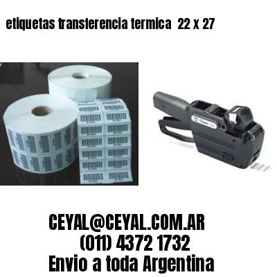 etiquetas transferencia termica  22 x 27