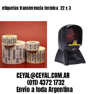 etiquetas transferencia termica  22 x 3