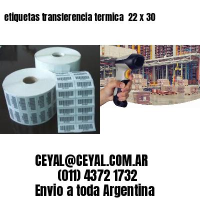 etiquetas transferencia termica  22 x 30