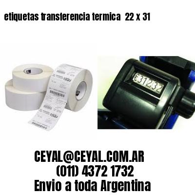 etiquetas transferencia termica  22 x 31