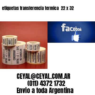 etiquetas transferencia termica  22 x 32