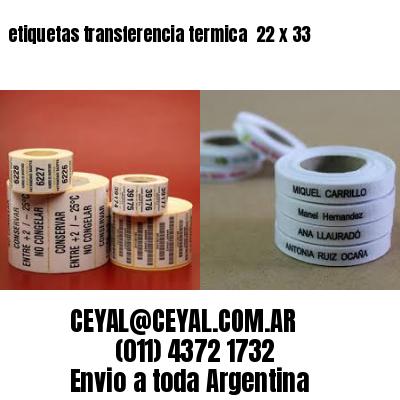 etiquetas transferencia termica  22 x 33