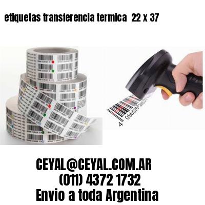 etiquetas transferencia termica  22 x 37