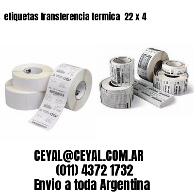 etiquetas transferencia termica  22 x 4