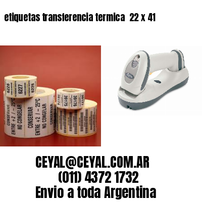 etiquetas transferencia termica  22 x 41