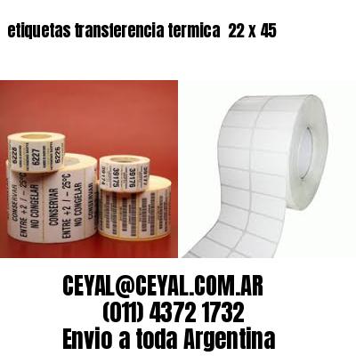 etiquetas transferencia termica  22 x 45