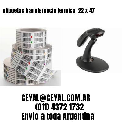 etiquetas transferencia termica  22 x 47