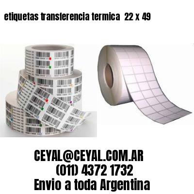 etiquetas transferencia termica  22 x 49