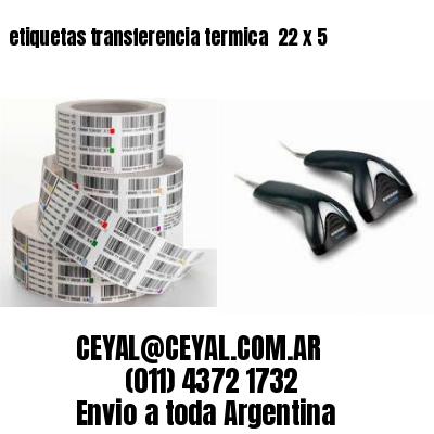 etiquetas transferencia termica  22 x 5