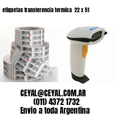 etiquetas transferencia termica  22 x 51