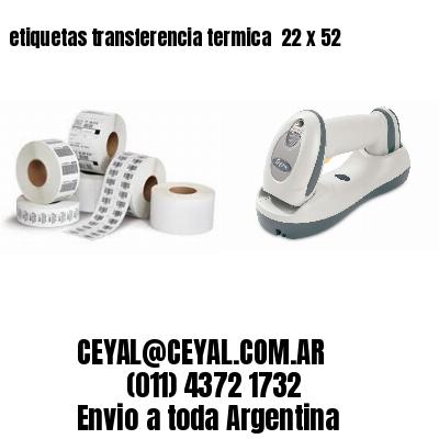 etiquetas transferencia termica  22 x 52