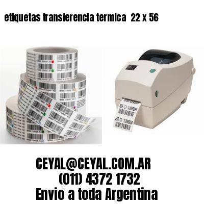etiquetas transferencia termica  22 x 56