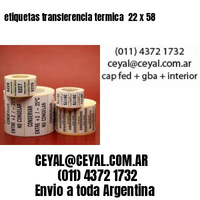 etiquetas transferencia termica  22 x 58