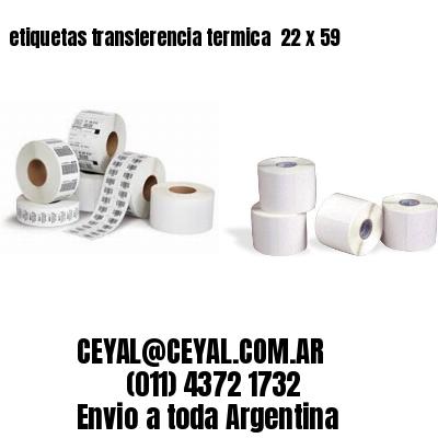 etiquetas transferencia termica  22 x 59