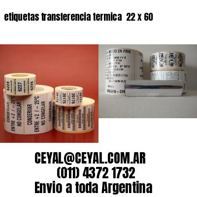 etiquetas transferencia termica  22 x 60