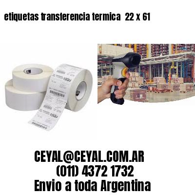 etiquetas transferencia termica  22 x 61