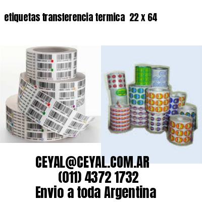 etiquetas transferencia termica  22 x 64