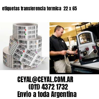 etiquetas transferencia termica  22 x 65