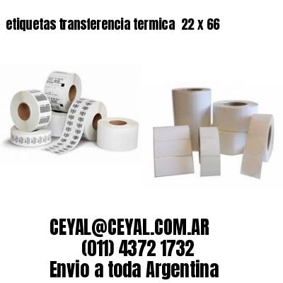 etiquetas transferencia termica  22 x 66