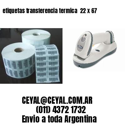 etiquetas transferencia termica  22 x 67
