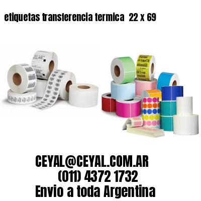 etiquetas transferencia termica  22 x 69