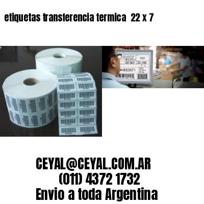 etiquetas transferencia termica  22 x 7