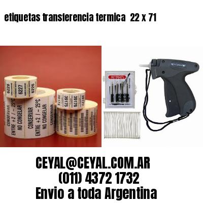 etiquetas transferencia termica  22 x 71