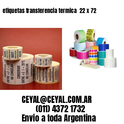 etiquetas transferencia termica  22 x 72