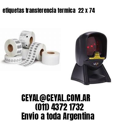 etiquetas transferencia termica  22 x 74
