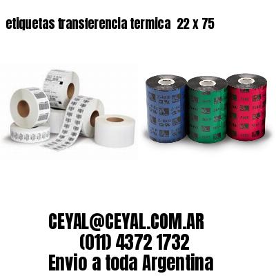 etiquetas transferencia termica  22 x 75