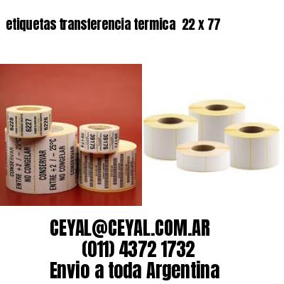 etiquetas transferencia termica  22 x 77