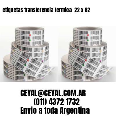 etiquetas transferencia termica  22 x 82