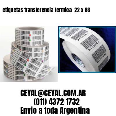 etiquetas transferencia termica  22 x 86