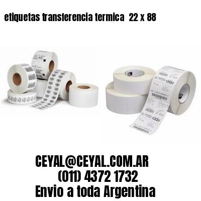etiquetas transferencia termica  22 x 88