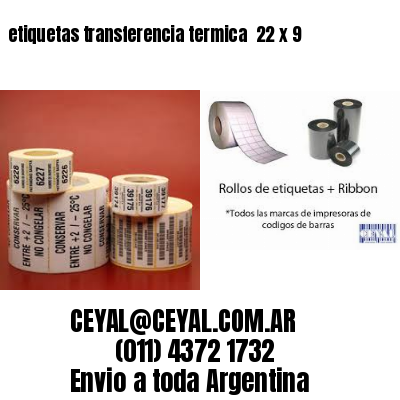 etiquetas transferencia termica  22 x 9