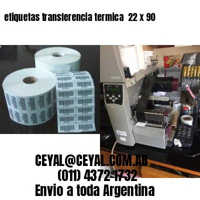 etiquetas transferencia termica  22 x 90