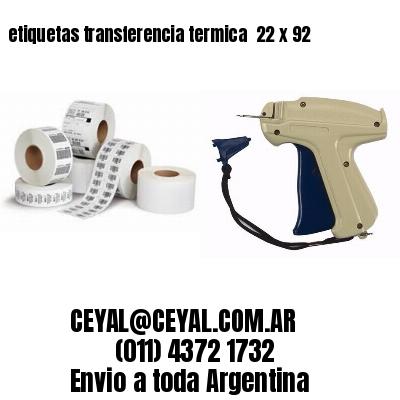 etiquetas transferencia termica  22 x 92