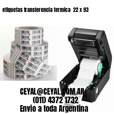 etiquetas transferencia termica  22 x 93