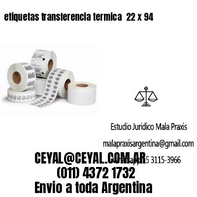 etiquetas transferencia termica  22 x 94