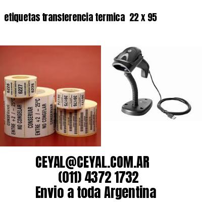 etiquetas transferencia termica  22 x 95