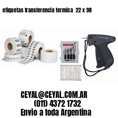etiquetas transferencia termica  22 x 98