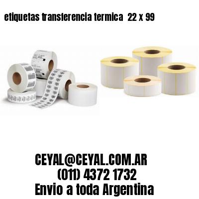 etiquetas transferencia termica  22 x 99
