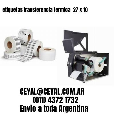 etiquetas transferencia termica  27 x 10