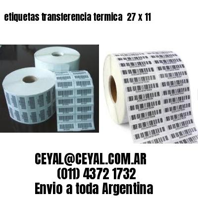 etiquetas transferencia termica  27 x 11