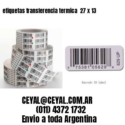 etiquetas transferencia termica  27 x 13