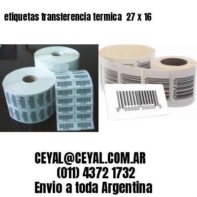 etiquetas transferencia termica  27 x 16