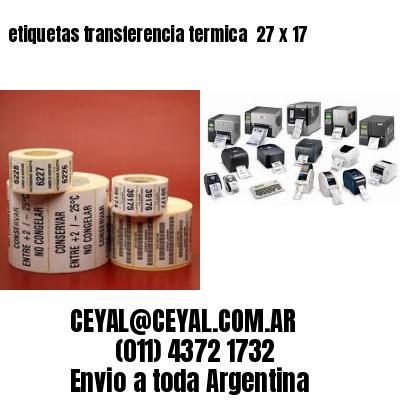 etiquetas transferencia termica  27 x 17